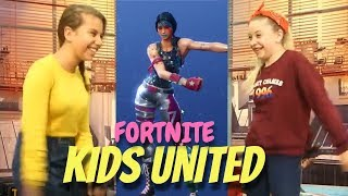 KIDS UNITED FONT LE FORTNITE DANSE CHALLENGE