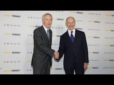 Conseil d'Administration de Renault–Conférence de presse de Jean-Dominique Senard & Thierry Bolloré