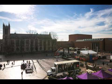 Timelapse of College GameDay setting up at the UW