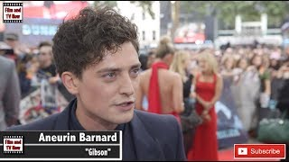 Aneurin Barnard red carpet interview at the Dunkirk premiere