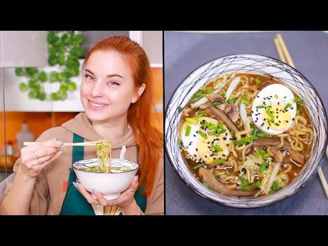 Японская лапша Сёю Рамен. Первое и второе блюдо в одном за 5 минут.