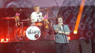 The Vamps- shape of you sing off Glasgow 29/04/17