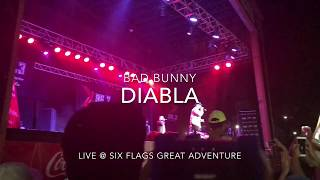 Bad Bunny - Diabla || LIVE @ Six Flags Great Adventure HD
