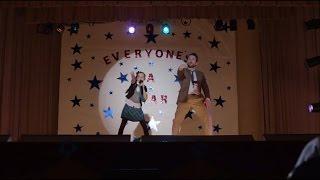 10 year old girl singing Big Sean song at school function
