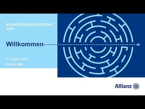 Allianz Gruppe Bilanzmedienkonferenz 2020