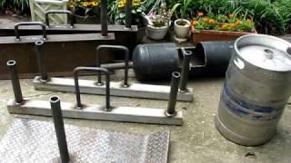 Homemade strongman equipment