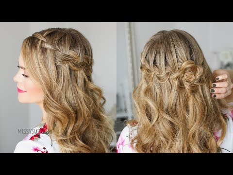 Waterfall Braid Wrapped Flower | Missy Sue