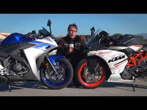 Motosx1000 : Comparativa Yamaha R3 vs KTM RC390