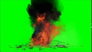 Efeito de explosão chroma key