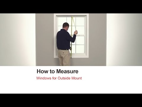 How to Measure Bali Blinds and Shades for Outside Mount