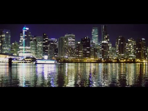 Vancouver BC Night Scenes  a7s ii 4K Christmas Time