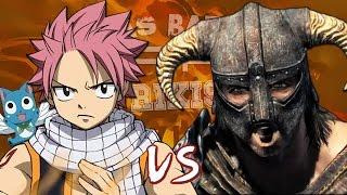 Natsu vs Dovahkiin. Épicas Batallas de Rap del Frikismo | Keyblade ft. Maydawa