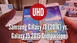 Samsung Galaxy J3 (2016) vs. Galaxy J5 2015 Comparison [4K UHD]