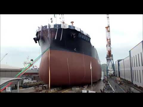 常石造船 進水式 「カムサマックス バルカー:KAMSARMAX」(2019/4/24):Launching Ceremony