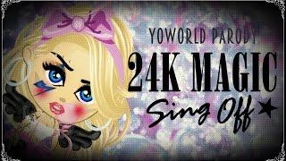 24K Magic Sing Off by Alex Aiono & Conor Maynard | YoWorld Parody
