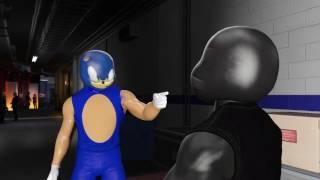 WWE 2K17 WTF SONIC VS SHADOW - CARTOON BATTLE