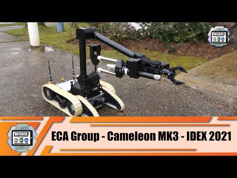 IDEX 2021 ECA Group presents its Cameleon MK3 UGV Unmanned Ground Vehicle French defense industry