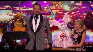 Darci Lynne and Terry Fator Bring The Best Ventriloquism Skills on America´s Got Talent 2017