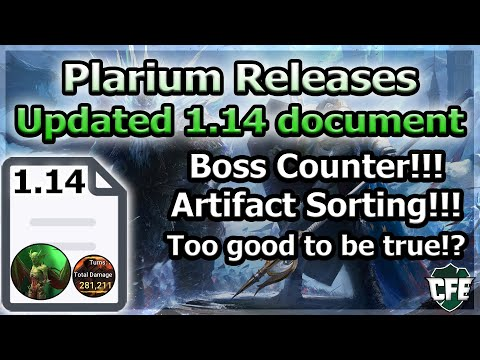RAID Shadow Legends | Plarium Releases Updated 1.14 Document! Boss Counter! Artifact Sorting!!