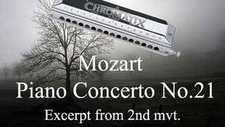 Mozart Piano Concerto No. 21  (2nd mvt) - Harmonica: Lee
