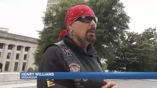 Bikers Take Confederate Flags and Message to State Capitol