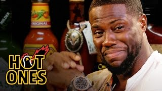 Kevin Hart Catches a High Eating Spicy Wings   Hot Ones