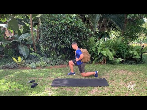 32 min HIIT full body backpack workout with JP from Virgin Active | Vitality at Home