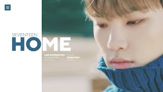 SEVENTEEN - Home Line Distribution (Color Coded) | 세븐틴 - 홈