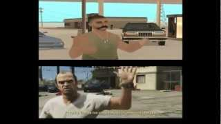 GTA V Trailer 2 - San Andreas Remake (splitscreen)