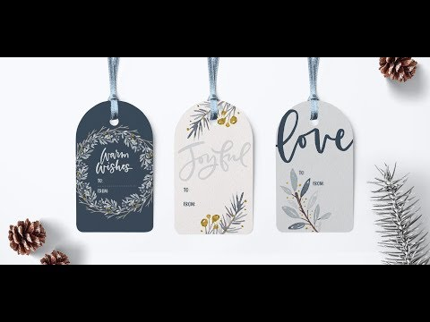 Create Winter Watercolor Gift Tags in Illustrator