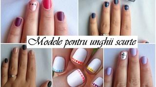 Modele pentru unghii scurte