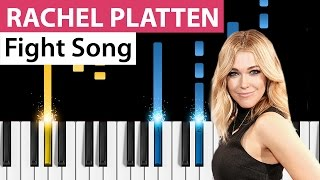 Rachel Platten - Fight Song - Piano Tutorial - How to play Fight Song on piano