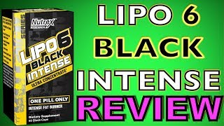 Lipo 6 Black Intense By Nutrex, Review