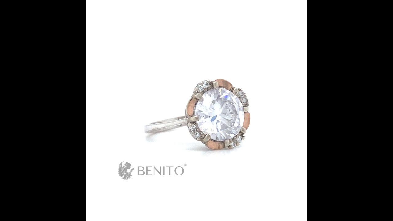 Vanna Ring White Zircon Stones