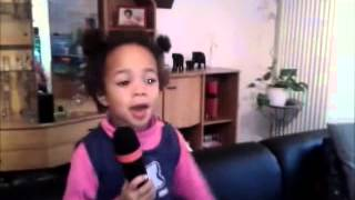 3 Year old Girl sings Hallelujah Shrek Song Leonard Cohen Jeff Buckley