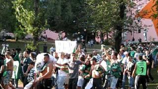 Adeptos sporting chegada a Guimaraes 2011