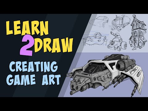 Learn to Draw Creating Game Art - My New Course