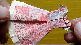 How to make frock of 20 rupees note 20 note videos / InfiniTube