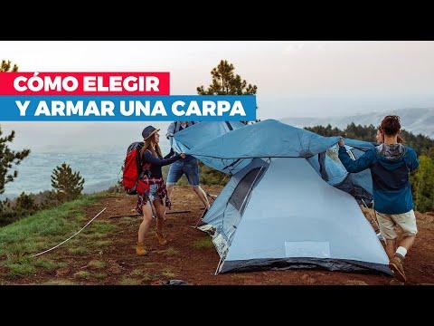 ¿Cómo armar una carpa y la zona de camping?