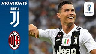 Juventus 1-0 Milan | Ronaldo Scores to Win First Trophy with Juve! | Supercoppa Final 18/19