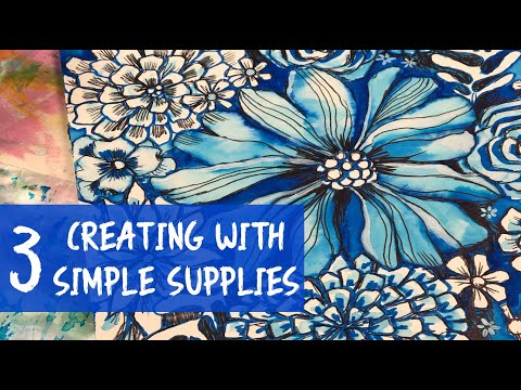 creating with 3 simple supplies
