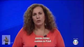 [Eleições 2016 ] Debate na Globo - Jandira Feghali diz que emissora apoiou o golpe