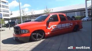 Dodge RAM Vossen Wheels Germany - ultra low - slammed - Tuning World Bodensee 2015