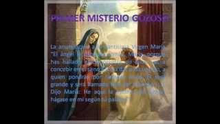 misterios gozosos del santo rosario