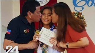 24 Oras: Pangulong Duterte, dumalo sa graduation ng bunsong anak na si Veronica
