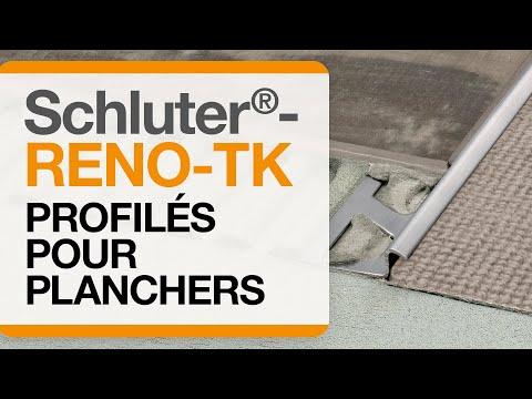 Comment installer un profilé de transition dans un carrelage au sol : Schluter®-RENO-TK
