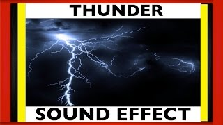 Best Thunder Sound Effect ► Thuder Strike & Lightning Sfx | HD