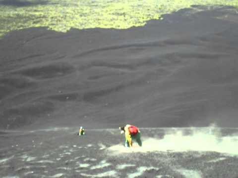 Sandboarding on volcanoe Cerro Negro, Nicaragua 2011.