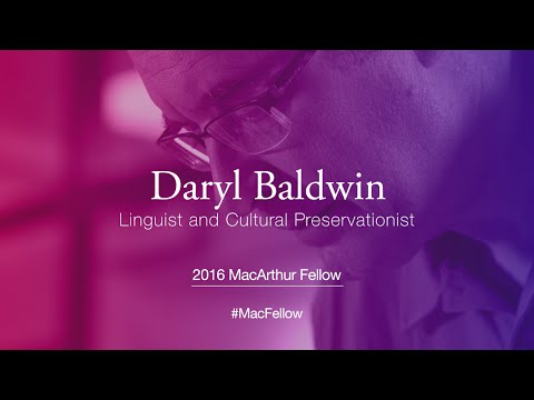 Linguist and Cultural Preservationist Daryl Baldwin | 2016 MacArthur Fellow