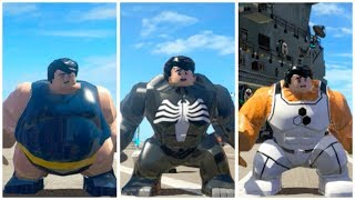 All Big-Fig characters perform Hulk transform animation (Part 1) - LEGO Marvel Superheroes